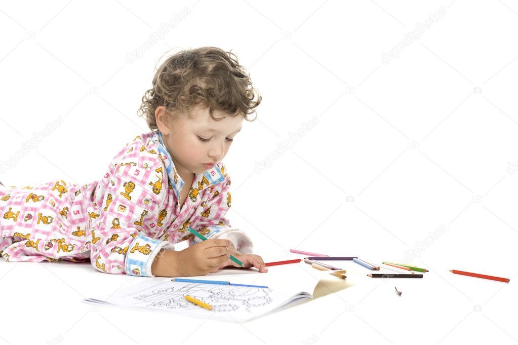 muchacho con colorante libro closeup — Fotos de Stock © Garry518 ...