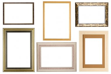 Set of picture frame on white