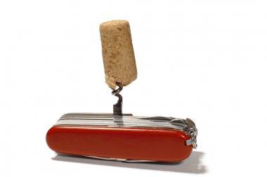 Flic knife with corkscrew
