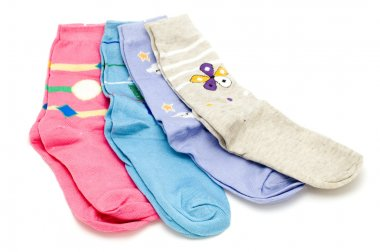 Colored sock on white