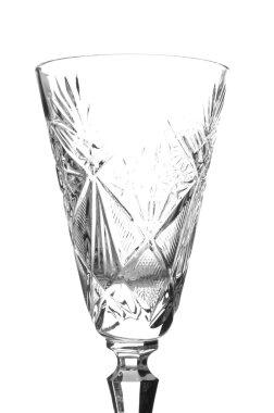 Crystal glass closeup