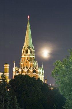 Kremlin Tower with moon
