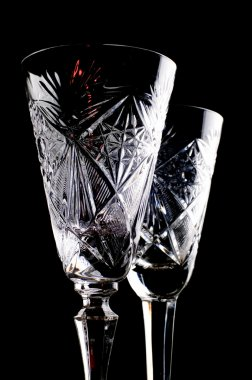 Two crystal glass