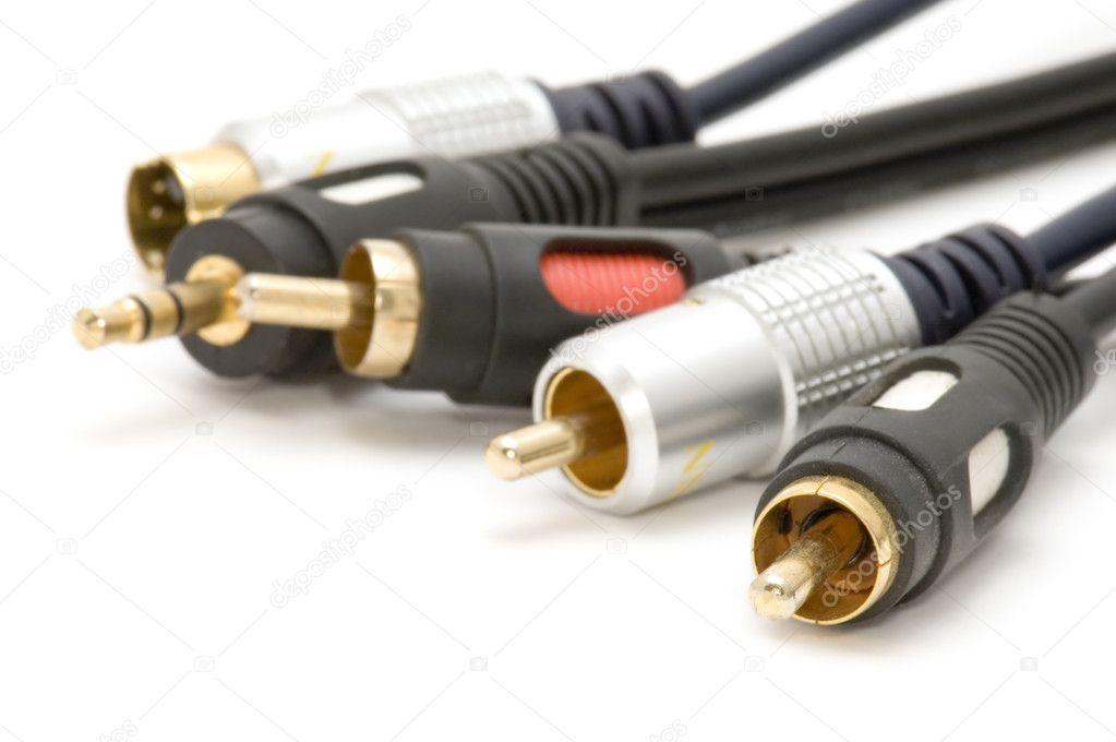 TV-Kabel-Makro auf weiß — Stockfoto © Garry518 #1836381