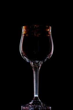Wine-glass on black