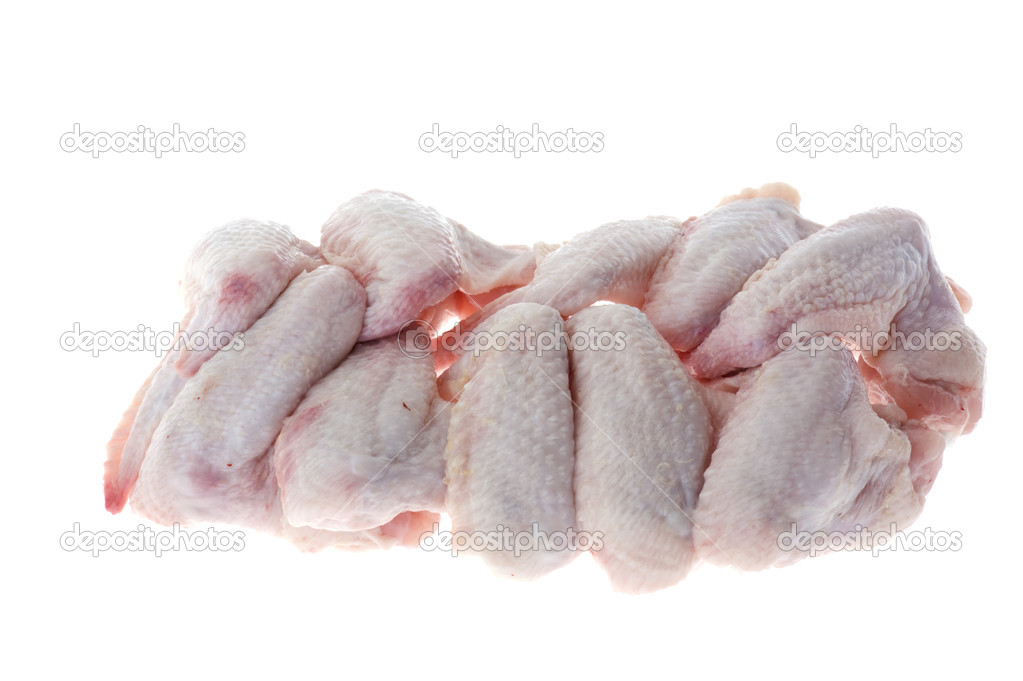 Object on white - raw chicken meat