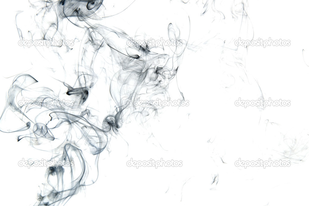 Object on white - abstract Smoke close up
