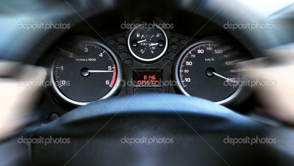 Car panel instrument speedometer
