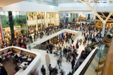 Crowd in the mall