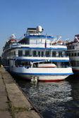 Tre-dec nave di ancoraggio per essere ancorata