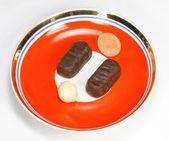 karamelové a čokoládové bonbóny