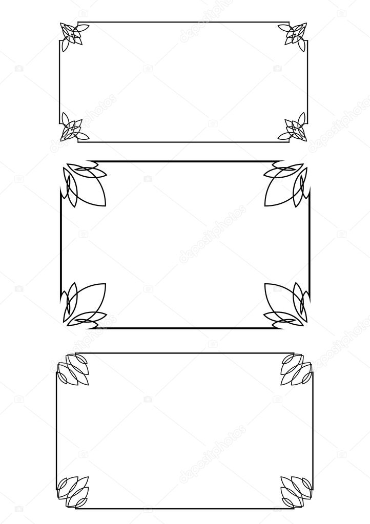Set of three frames — Stock Vector © tan_tan #1806225