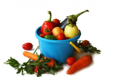 Vegetables in the pail