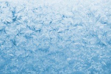 Light blue frozen glass