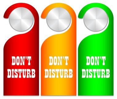 Don't disturb vector card