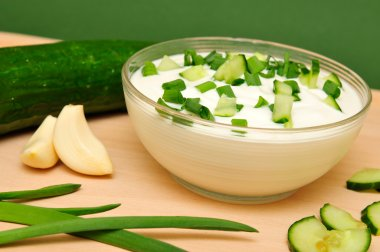 Yoghurt with the cucumber