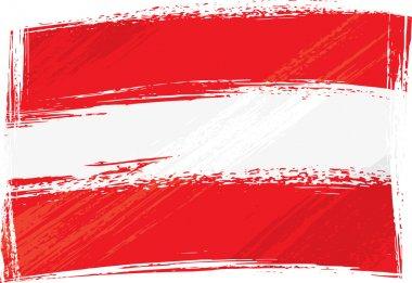 """Картина, постер, плакат, фотообои """"Флаг Австрии гранж"""", артикул 1684605"""