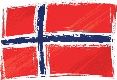 Grunge Norway flag
