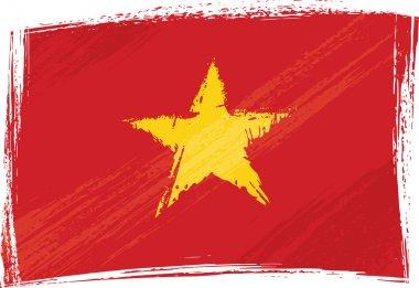 Grunge Vietnam flag