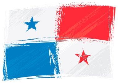 Grunge Panama flag
