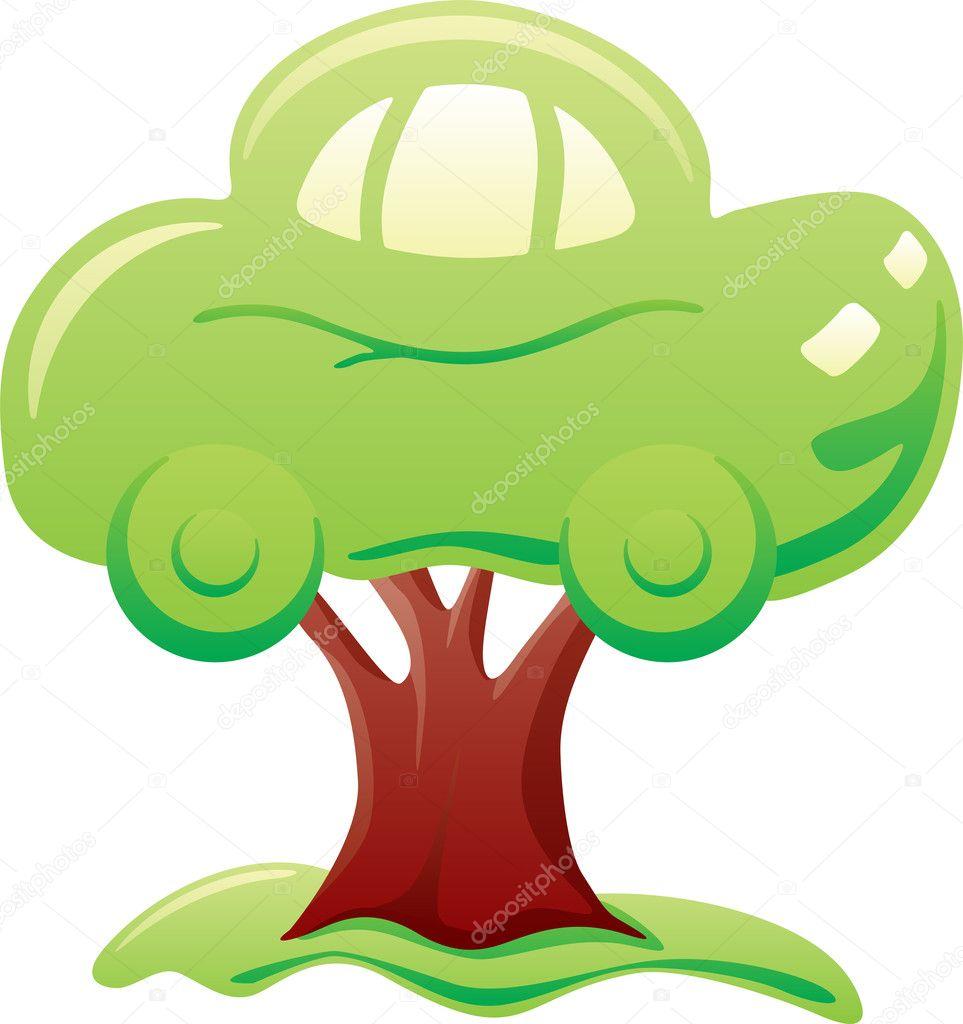 Car on tree