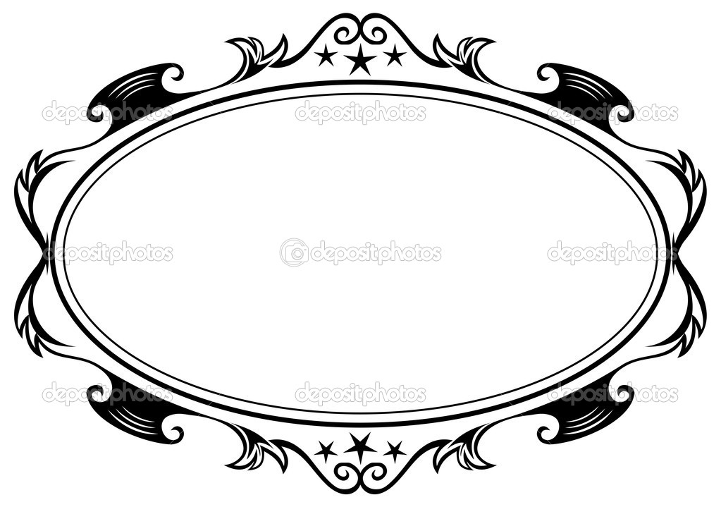 antique oval frame stock illustration