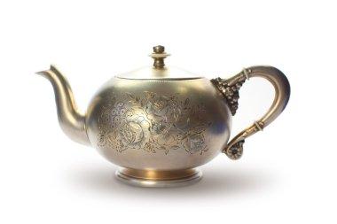 Silver antique teapot