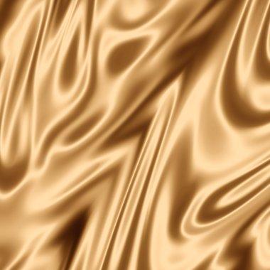 Golden silk fabric