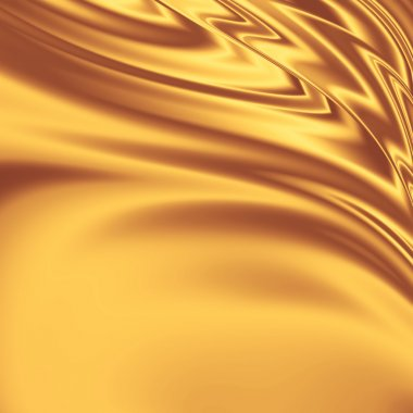 Gold satin fabric grunge