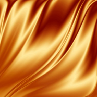 Gold satin fabric grunge