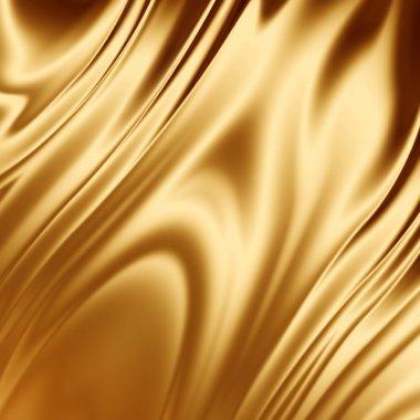 Gold silk fabric