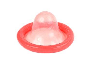 Condom on White