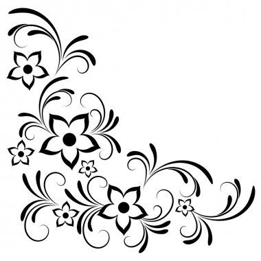 Floral ornaments. stock vector
