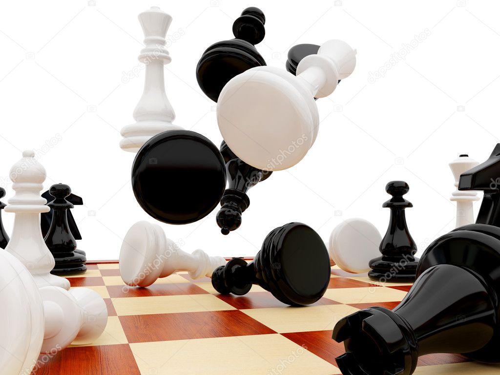 Chessmen Stock Photo Rook76 1596040