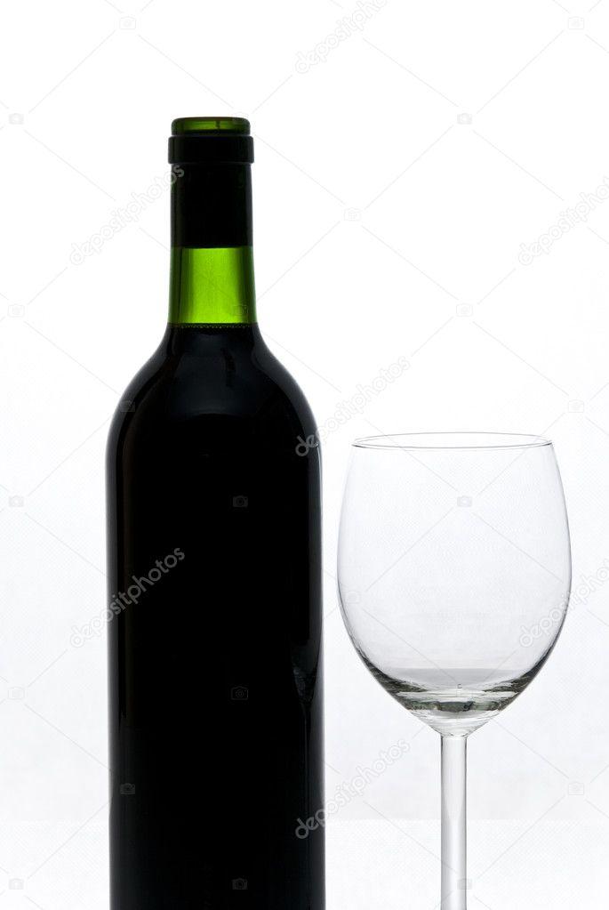 Butelka Wina I Lampka Zdjęcie Stockowe Tarczas 1940946