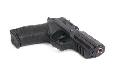 The black gun isolated on white backgrou stock vector