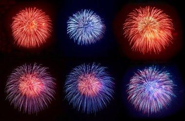 Six beautiful fireworks