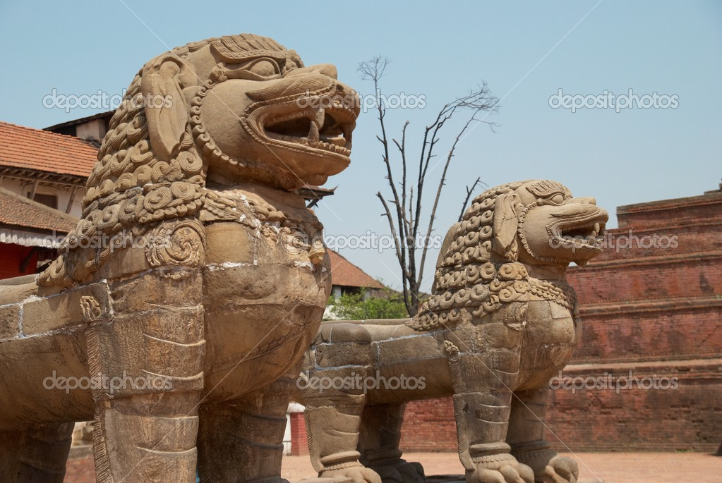 Old buddhistic statues