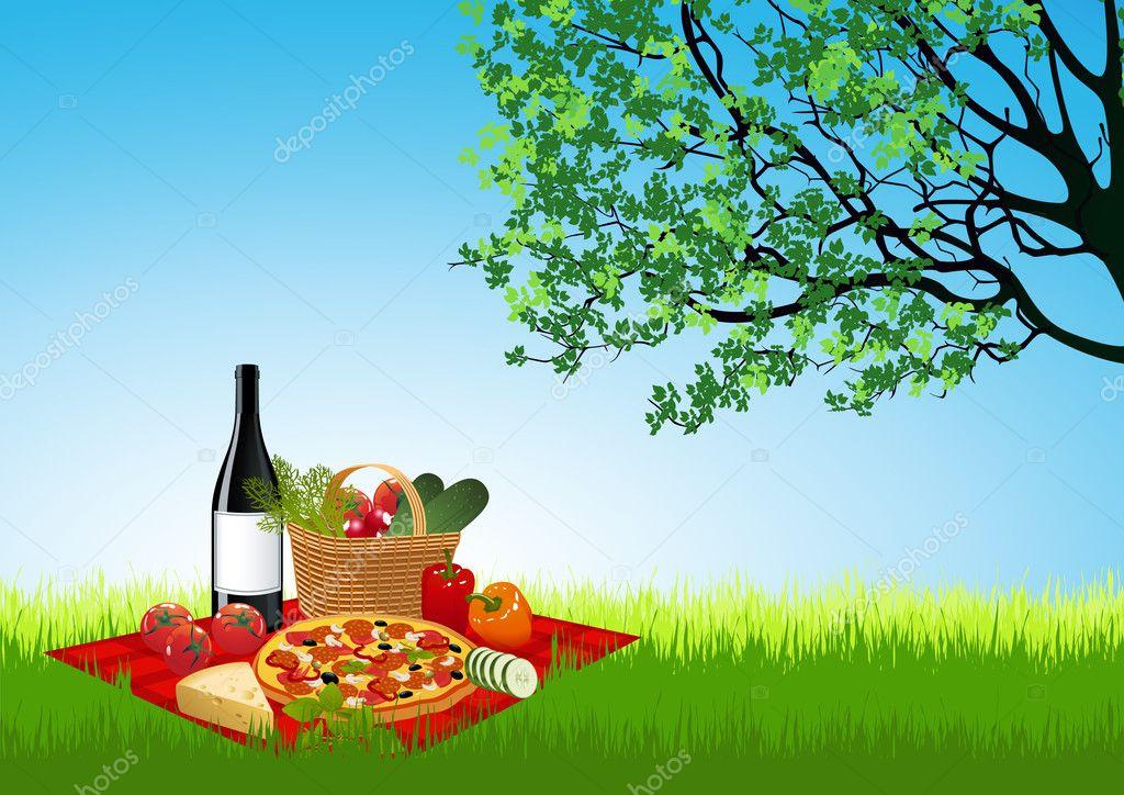 Picknick on summer field