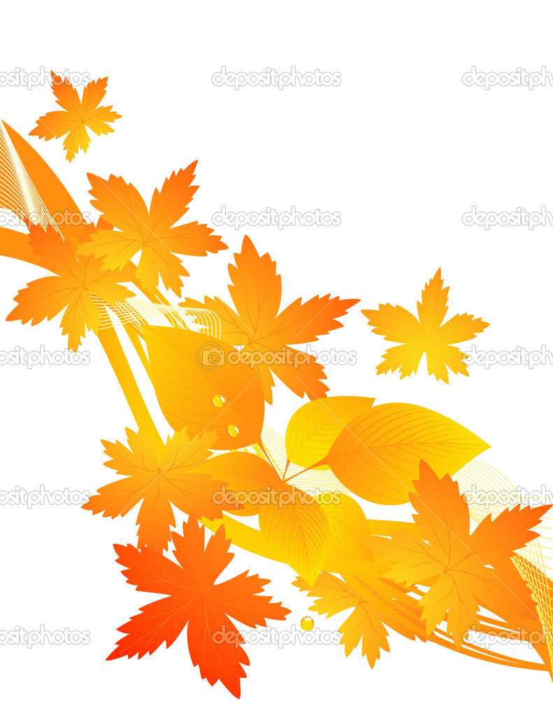 Yellow autumnal background