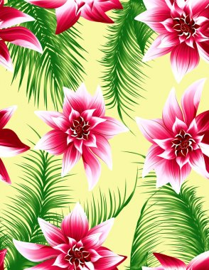 Tropical leaf seamless background