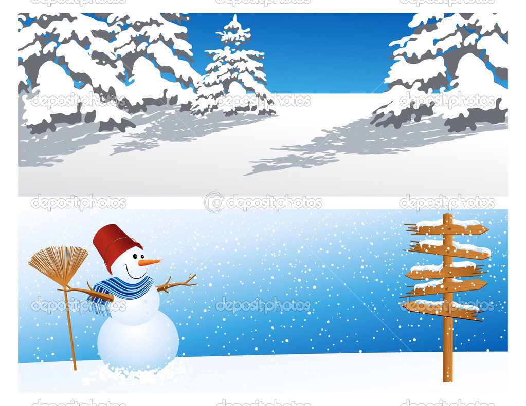 Two winter backgrounds