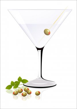 Cocktail with olives