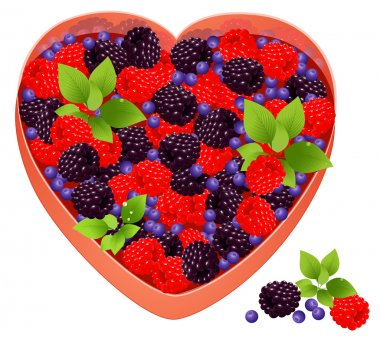 Tray with berries