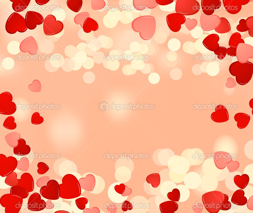 Love background, vector illustration clipart vector