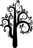 silueta vektor strom