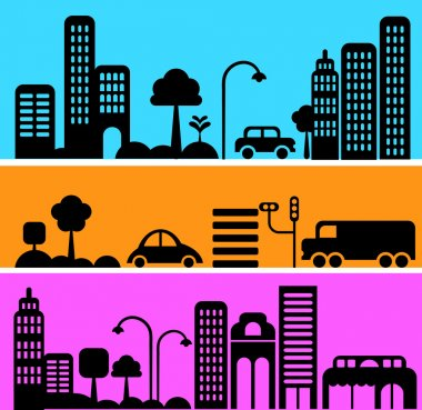 Vector illustration of a city street