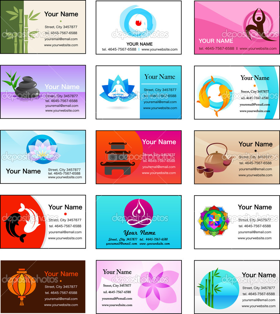 Collection of Zen business cards