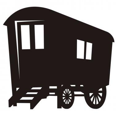 Gypsy caravan wagon silhouette