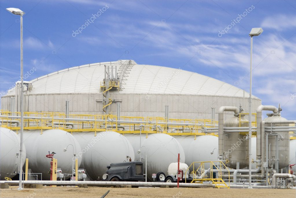 A Natural Gas Refinery at the height of production